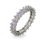 Sparkling Lavender Princess Cut Eternity Band
