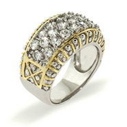 Steven Lagos Inspired Sparkling Pave Band Sterling Silver Ring