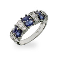 Susan's Sapphire and Diamond CZ Ring