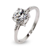 Emma's Brilliant Round CZ Engagement Ring