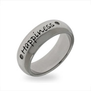 Stainless Steel Happiness Friendship Ring