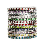 Birthstone CZ Sterling Silver Stackable Eternity Bands