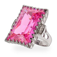 Nicole Richie Replica Pink CZ Engagement Ring