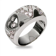 Chopard Inspired Floating CZ Love Ring