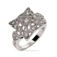 Jenna's Square Shaped Vintage Style CZ Ring