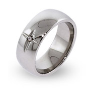Faithful Forever Engravable Cross Ring