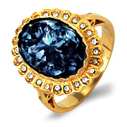 Authentic Royal Regalia Princess Diana Sapphire Swarovski Crystal Engagment Ring