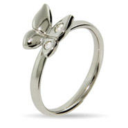 Stackable Reflections Sterling Silver CZ Butterfly Stackable Ring