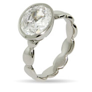 Stackable Reflections Oval Bezel CZ Stackable Ring
