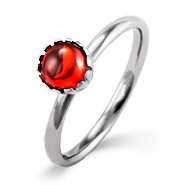 Stackable Reflections Garnet CZ Silver Stackable Ring