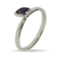 Stackable Reflections Amethyst Marquise CZ Stackable Rin