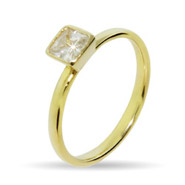 Stackable Reflections Princess Cut Gold Vermeil CZ Stackable Ring