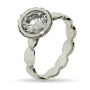 Stackable Reflections Round Brillant Cut Vintage CZ Stackable Ring