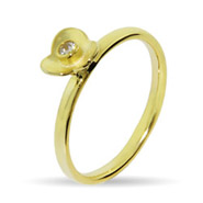 Stackable Reflections Gold Vermeil CZ Flower Stackable Ring
