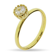 Stackable Reflections Gold Vermeil Crown Set CZ Stackable Ring