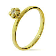 Stackable Reflections Gold Vermeil CZ Posey Stackable Ring