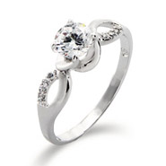 Infinity Design with Brilliant Cut CZ Promise Ring