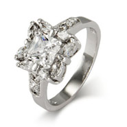 Dazzling Princess and Marquise Cut CZ Right Hand Ring