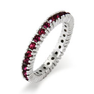 Stackable Reflections Sparkling February Birthstone Stackable Ring