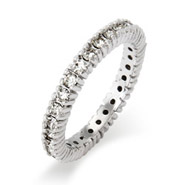 Stackable Reflections Sparkling April Birthstone Stackable Ring