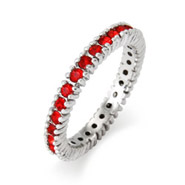 Stackable Reflections Sparkling July Ruby Birthstone Stackable Ring