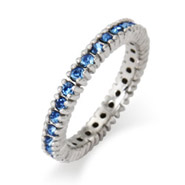 Stackable Reflections Sparkling September Birthstone Stackable Ring