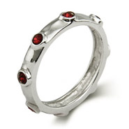 Stackable Reflections Garnet January Birthstone Bezeled Ring