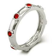 Stackable Reflections Ruby July Birthstone Bezeled Ring