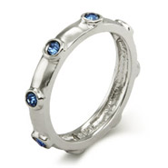 Stackable Reflections Sapphire September Birthstone Bezeled Ring