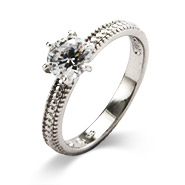Katie's 1 Carat Brilliant Cut CZ Engagement Ring