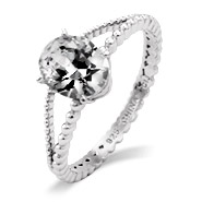 Oval Cut CZ Blake Lively Replica Engagement Ring