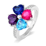 Close to the Heart 4 Stone Mother's Love Family Birthstone Ring