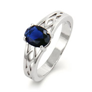 Close to the Heart Single Stone Oval Cut Woven Birthstone Ring