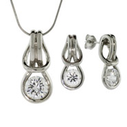 Everlasting Love Knot Pendant and Earring Set