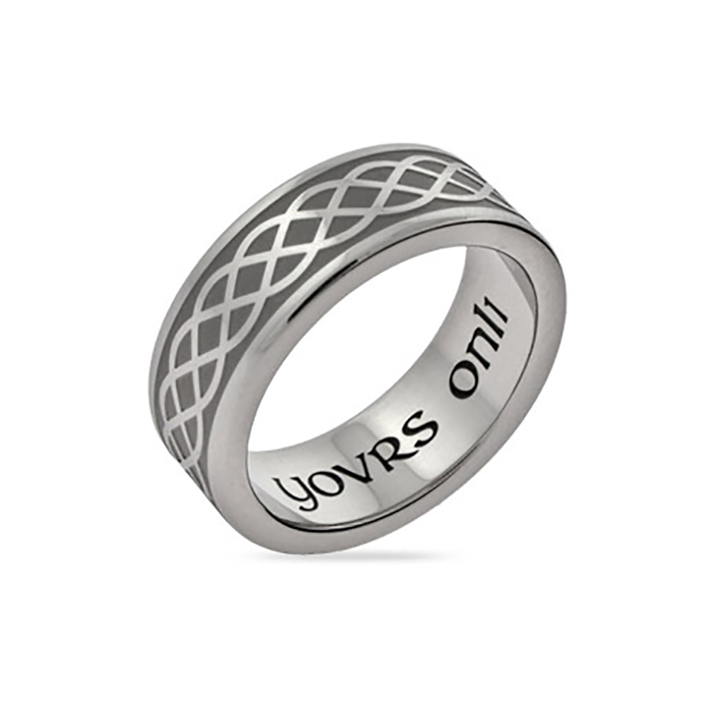 orderby price stainless steel wedding band Celtic Weave Yovrs Onli Stainless Steel Wedding Band