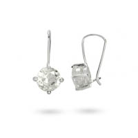 Some posh CZ Diamond Leverback Earrings keep Kate's country girl look up-scale. Steal the style at Eve's Addiction!