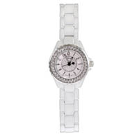Designer Style Sparkling CZ White Fashion Watch