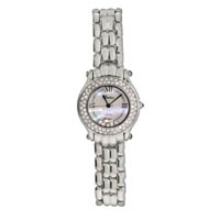 Chopard Inspired Floating CZs Silver Tone Fashion Watch