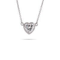 Kate loves dainty necklaces, like this Bezel Set CZ Heart Pendant. Steal the style at Eve's!