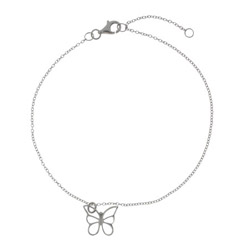 Tiffany Inspired Single Butterfly Charm Anklet
