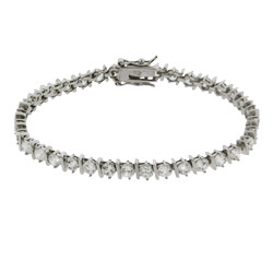 Brilliant Cut Banded CZ Tennis Bracelet