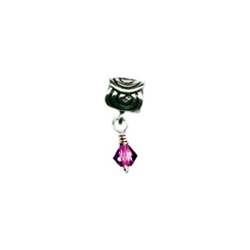 Dangling Scroll February Oriana Bead - Pandora Bead & Bracelet Compatible
