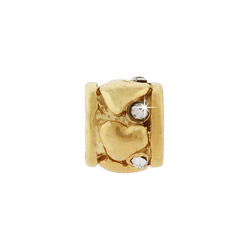 Golden Ring of Hearts Oriana Bead - Pandora Bead & Bracelet Compatible