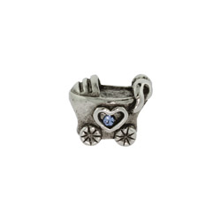 Baby Boy Baby Carriage Oriana Bead - Pandora Bead & Bracelet Compatible