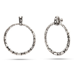Designer Inspired Cobblestone Hoop Style Earrings