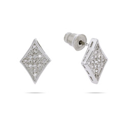 Petite Sparkling Micropave Diamond CZ Earrings
