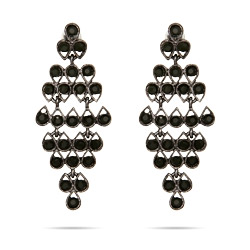 Classic Onyx CZ Chandelier Earrings