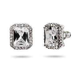 Miranda's Exquisite 4 Carat Emerald Cut CZ Stud Earrings
