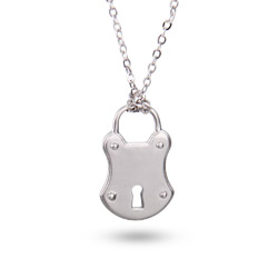 Tiffany Inspired Frosted Lock Pendant