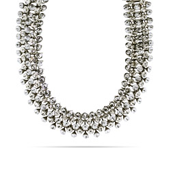 Glamorous 5 Row Clear Crystal Choker Necklace